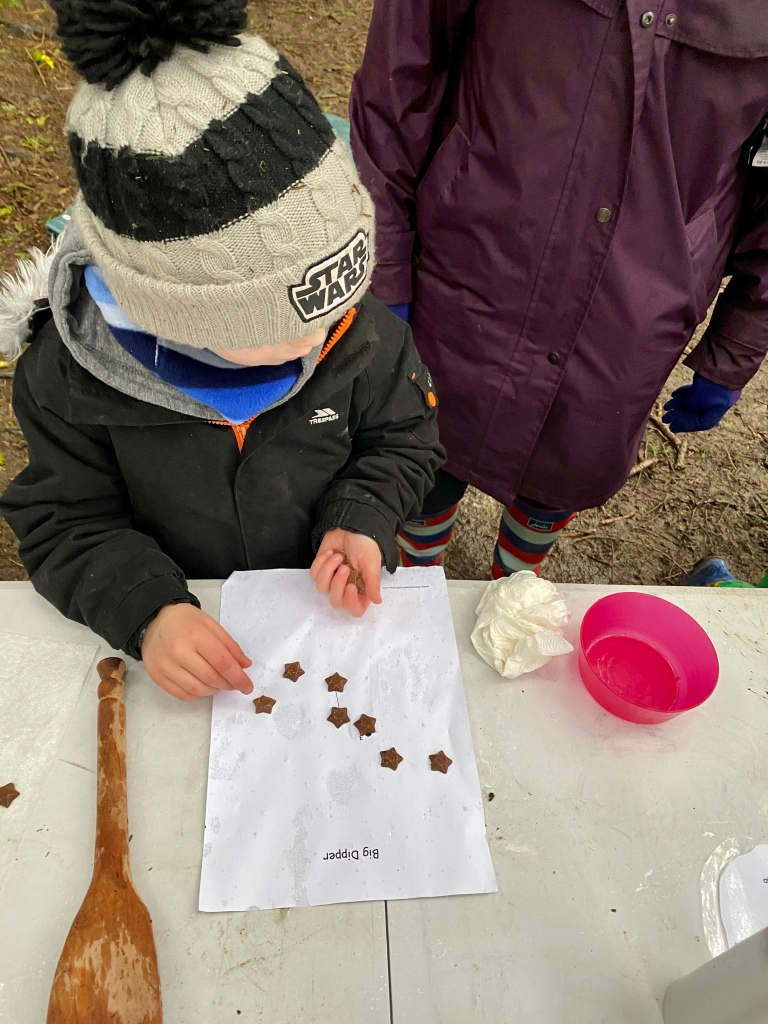 Using chocolate to learn about constellations in STEM sessions outdoors