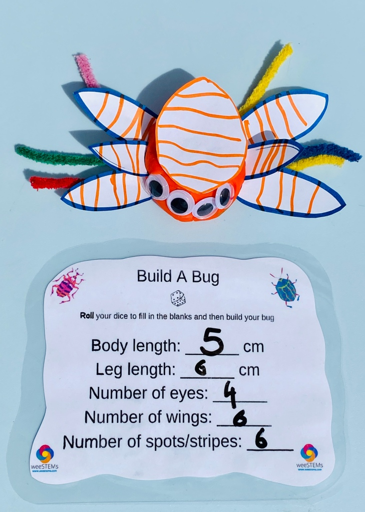 Build a bug and worksheet