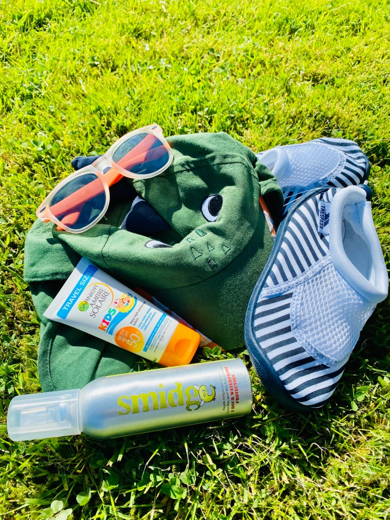 Summer clothing items for playing outdoors with kids